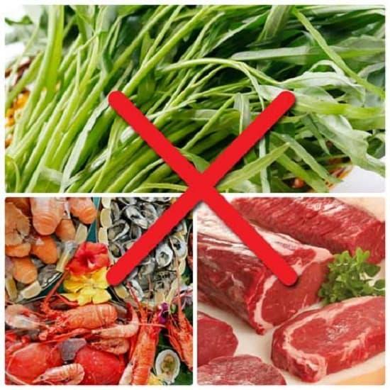 Tuyệt đối không ăn những thực phẩm gây sẹo tối thiểu 1 tháng sau khi phẫu thuật