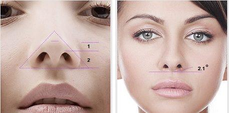 Tạo hình lỗ mũi hạt chanh theo đúng tỉ lệ nhất định